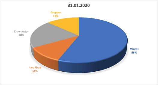 image 1 - Evolutie portofoliu Peer 2 Peer in IANUARIE 2020