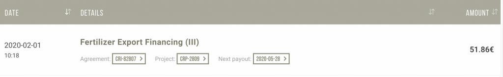 Screenshot 2020 03 02 at 11.33.12 1024x157 - Evolutie portofoliu Peer 2 Peer in FEBRUARIE 2020
